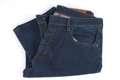 Folded blue jean Royalty Free Stock Images