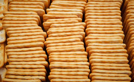 Folded into a box tasty square cookies Stock Photo