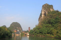 Folded Brocade Hill pagoda landcape Guilin China Stock Photos