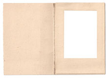 Vintage folded card photo frame Royalty Free Stock Photos