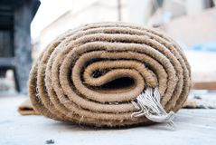 Folded carpet Stock Images