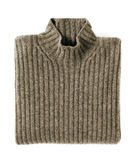 Folded Cashmere Turtle Neck Sweater Stock Photography
