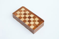 Folded chess board isolated over the white background Stock Images