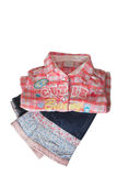 Folded Childrens Clothes Stock Image