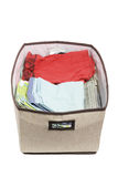 Folded Clothes in Storage Box Royalty Free Stock Photo
