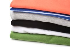 Folded clothes Royalty Free Stock Images