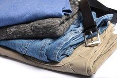 Folded clothing Royalty Free Stock Photo