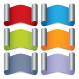 Folded color labels Royalty Free Stock Photos