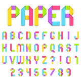 Folded Color Paper Font Royalty Free Stock Images