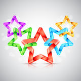 Folded Color Paper Stars Royalty Free Stock Photography