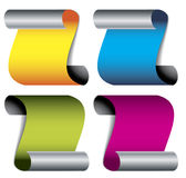 Folded color papers Stock Photography