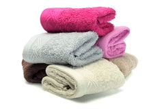 Folded Colorful Face Towels Royalty Free Stock Images