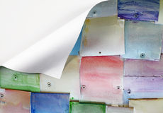 Folded colorful metal plate. Stock Photos