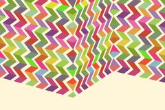 Folded Colorful Pattern Royalty Free Stock Photography