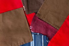Folded colorful towels Royalty Free Stock Photography