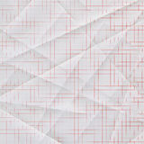 Folded and creased graph paper Stock Image