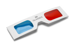 Folded 3D Glasses Royalty Free Stock Photos