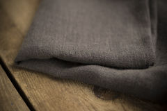 Folded Dark Grey Cotton Fabric Royalty Free Stock Photography