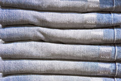 Folded denim Royalty Free Stock Images