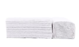 Folded disposable papers. Royalty Free Stock Photos
