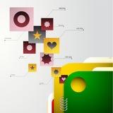 Folded documents Stock Photo