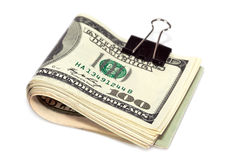 Folded dollar bills Stock Photo