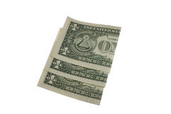 Folded dollar bills Royalty Free Stock Image
