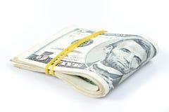 Folded of dollar bills Royalty Free Stock Image