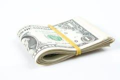 Folded of dollar bills Stock Photography