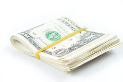 Folded of dollar bills Royalty Free Stock Images