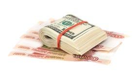Folded dollar bills Royalty Free Stock Photo