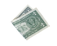 Free Folded Dollar Isolated On White Background Royalty Free Stock Photo - 73004645