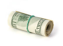 Folded dollars Stock Image