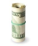 Folded dollars Stock Images