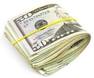 Folded dollars Stock Photos
