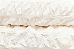 Folded duvet Stock Image
