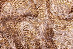 Folded Elegant Golden Lacy Background Stock Images