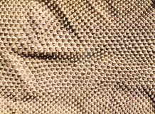 Folded genuine snake skin leather for texture and background. Seamless reptile pattern Stock Photography