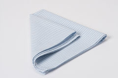 Folded Gingham Cotton Napkin On White Background Royalty Free Stock Photography
