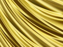 Folded golden sparkling silk 3D texture Stock Image