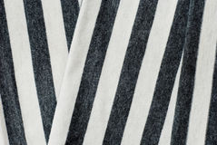 Folded gray striped cotton. Royalty Free Stock Image