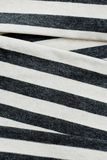 Folded gray striped cotton. Royalty Free Stock Images