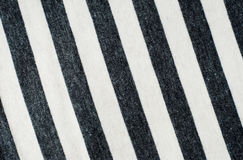 Folded gray striped cotton. Stock Photos