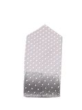 Folded gray tie with white speck. Royalty Free Stock Photography