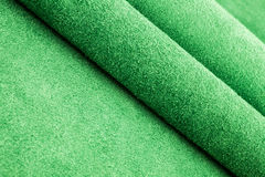 Folded Green Suede on Diagonal Stock Photo