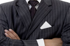 Folded hand of businessman Royalty Free Stock Images