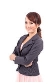 Folded hands . business portrait of smiling asia woman Stock Photography