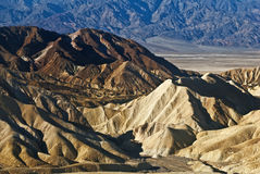 Folded Hills of Death Valley. This is a picture of the folded hills of Death Valley National Park royalty free stock photos