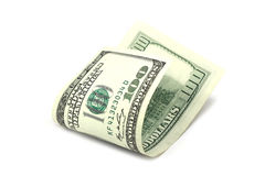 Folded hundred dollar bills Stock Photos