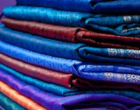 Folded Indian silk Stock Photos
